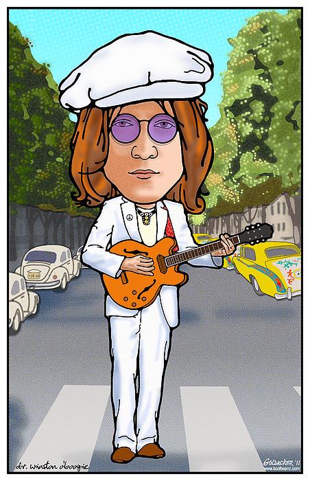 John Lennon Print by John Goldacker