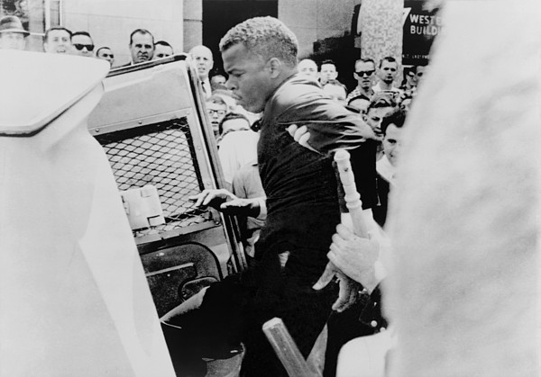 John Lewis Being Ushered Into A Police Print by Everett