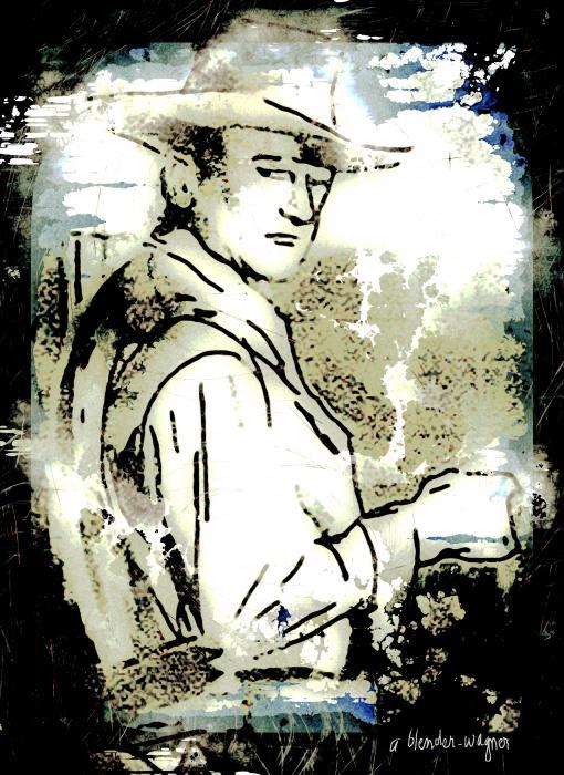 John Wayne Print by Arline Wagner