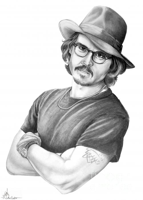 Johnny Depp Print by Murphy Elliott
