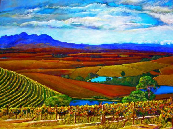 Jordan Vineyard Print by Michael Durst