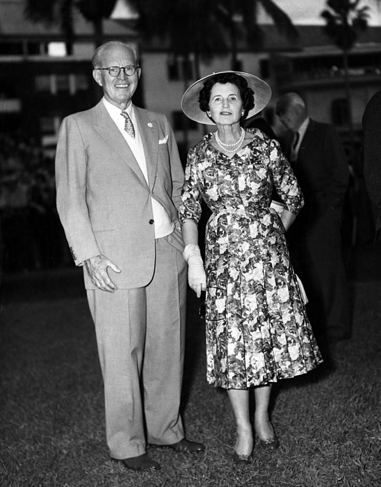 Joseph P. Kennedy And Wife Rose Print by Everett