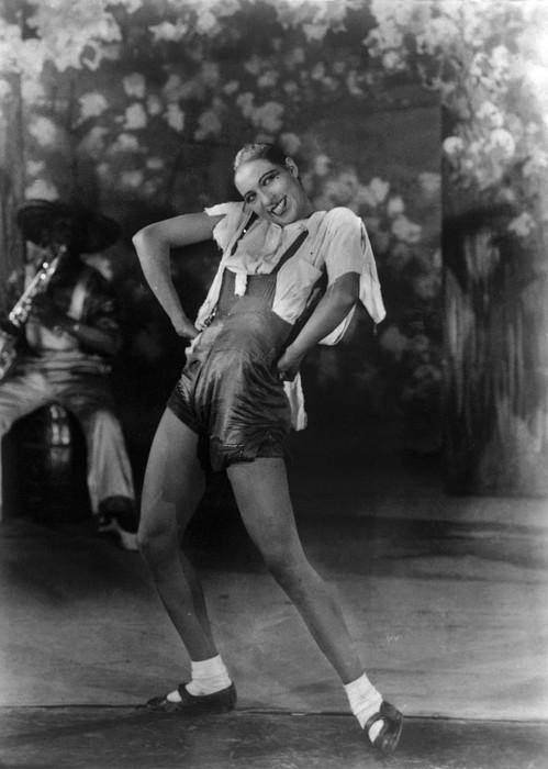 Josephine Baker At The Folies Bergere Print by Everett