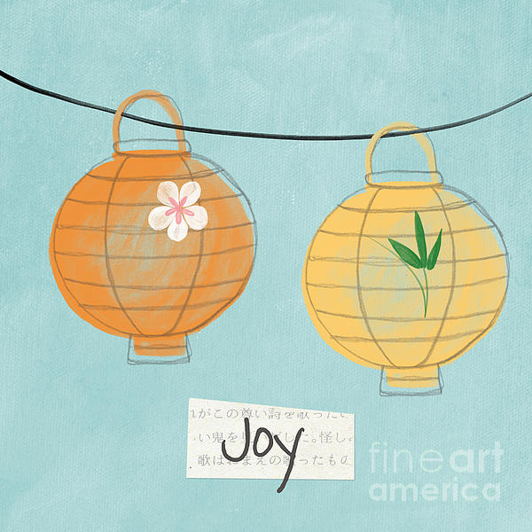 Joy Lanterns Print by Linda Woods
