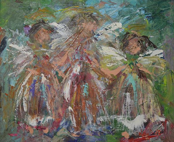Joyful Chorus Print by Kathy  Cuiffi