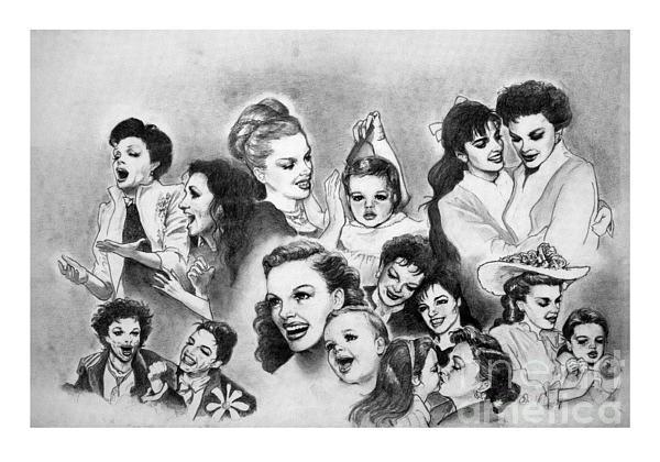 Judy And Liza Print by Carl Wolfe