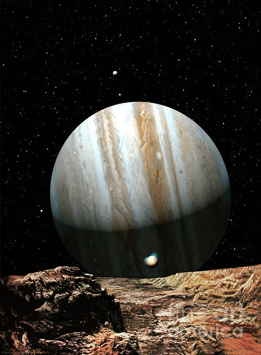 Jupiter Seen From Europa Painting