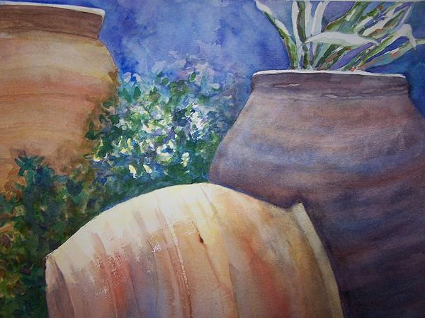 Just Pots Print by Sandy Collier