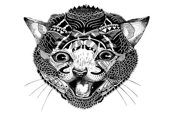K Kat Print by JF Mondello