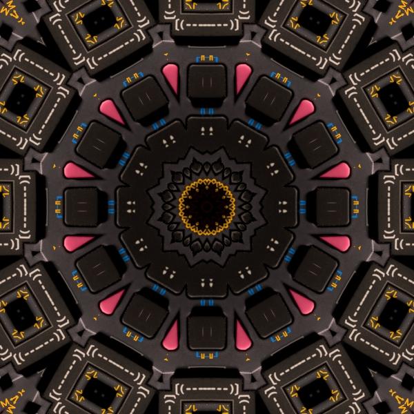 Kaleidoscopic Calculator Print by Rolf Bertram