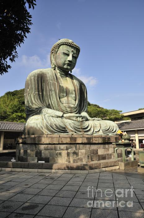 Kamakura Buddha Print by Andy Smy