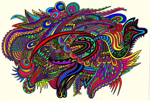Kangadoodle Print by Karen Elzinga