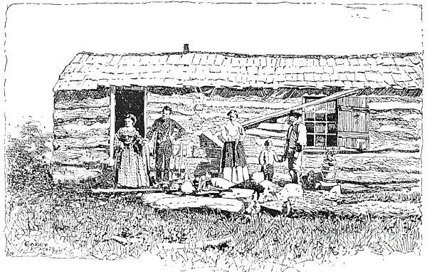 Kansas: Early House, 1854 Print by Granger
