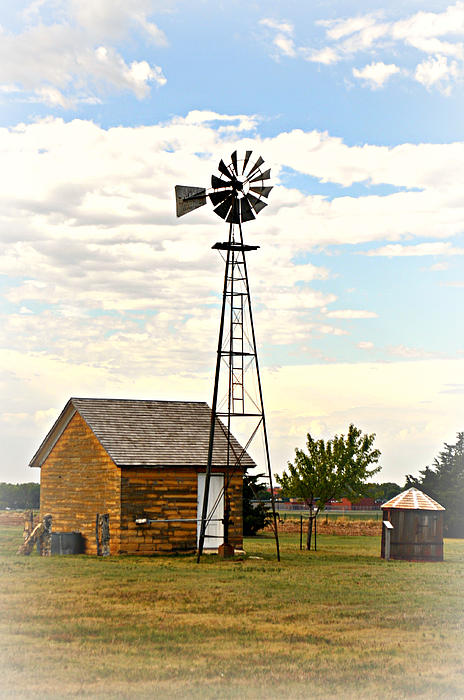 Kansas Windmill 1 Print by Marty Koch