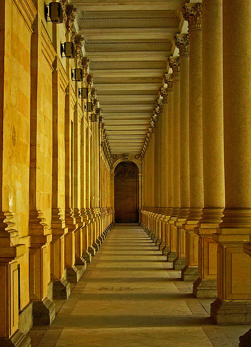 Karlovy Vary Colonnade Print by Juergen Weiss