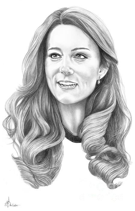 Kate Middleton Catherine Duchess Of Cambridge Print by Murphy Elliott