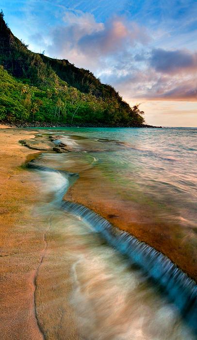 Kauai Shore Print by Monica and Michael Sweet