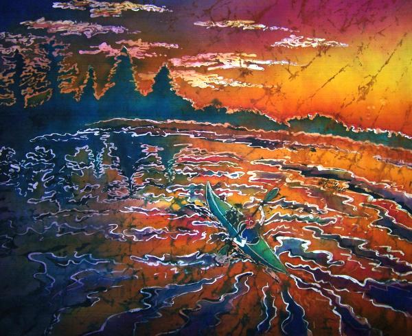 Kayak Serenity  Print by Sue Duda