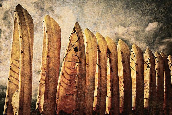 Kayaks Print by Skip Nall