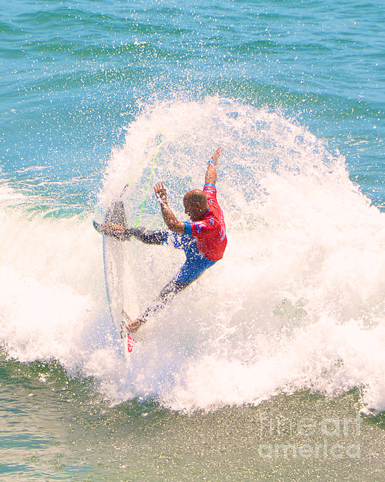 Kelly Slater Us Open Of Surfing 2012    5 Print by Jason Waugh