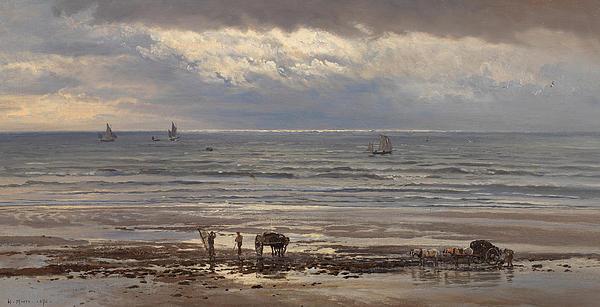 Kelp Gatherers Print by Henry Moore