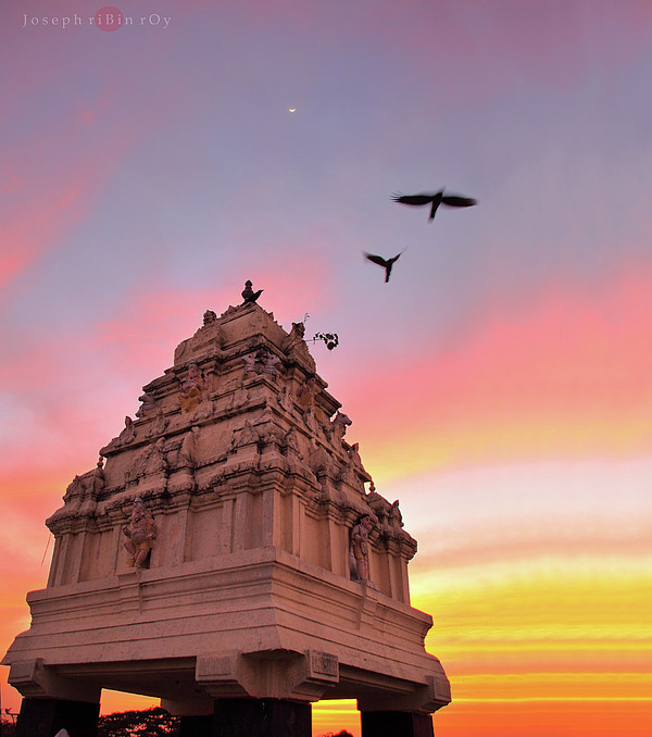 Kempegowda Tower - Lal Bagh, Bangalore Print by Joseph riBin rOy