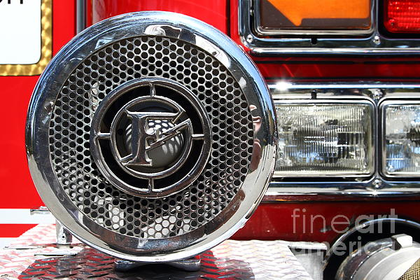 Kensington Fire District Fire Engine Siren . 7d15880 Print by Wingsdomain Art and Photography