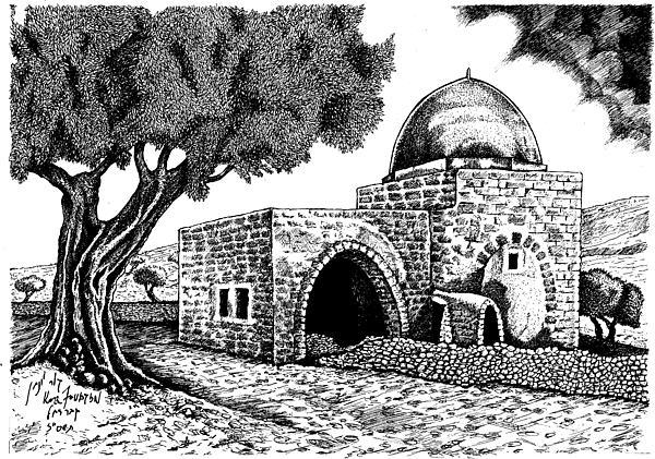 Kewer- Tomb  Rachel Print by Jonatan Kor