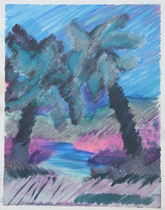 Key Palms Print by Judy Loper