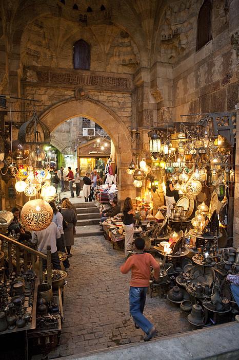Khan El Khalili Market In Cairo Print by Taylor S. Kennedy