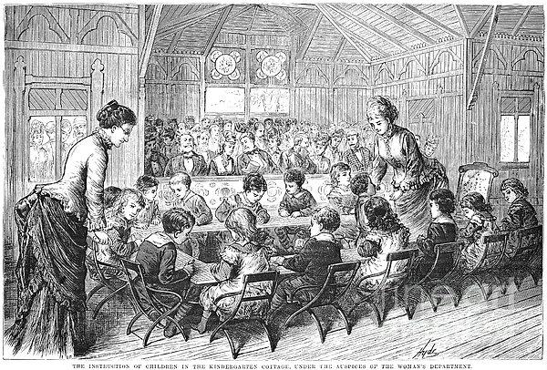 Kindergarten, 1876 Print by Granger