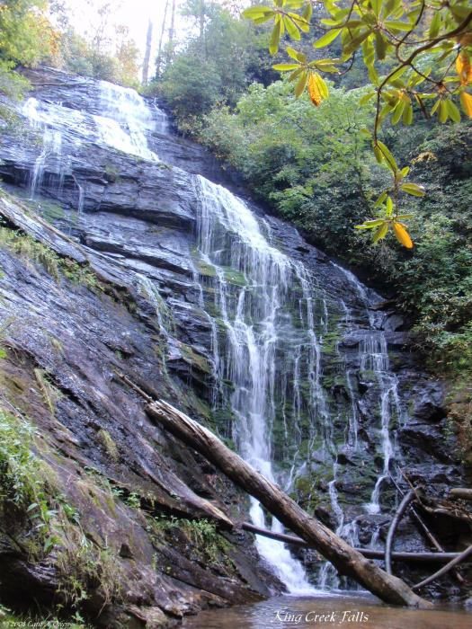 King Creek Falls Oconee County Sc Print by Lane Owen