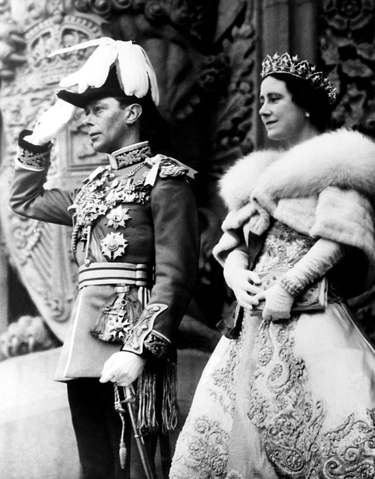 King George Vi, Queen Elizabeth Print by Everett