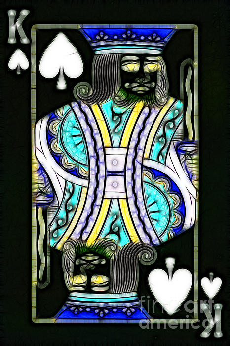 King Of Spades - V2 Print by Wingsdomain Art and Photography
