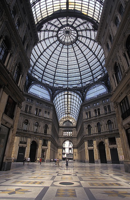 King Umberto I Shopping Arcade Print by Richard Nowitz