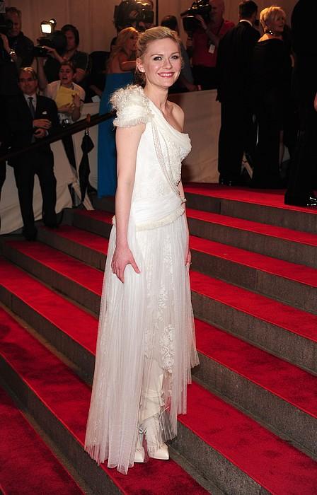 Kirsten Dunst  Wearing A Dress Print by Everett