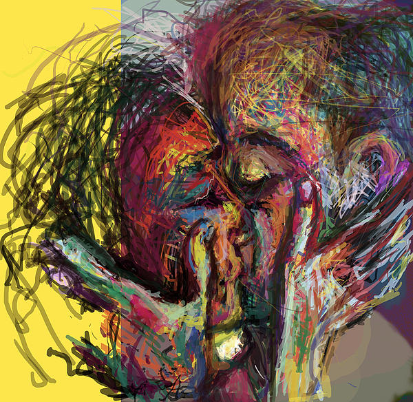 Kiss Me You Big Dick Print by James Thomas