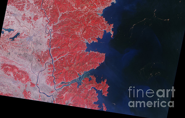 Kitakami River, Japan, After Tsunami Print by National Aeronautics and Space Administration