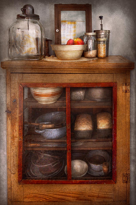Kitchen - The Cooling Cabinet Print by Mike Savad