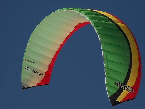 Kite Boarding Sail Print by Carolyn Olney