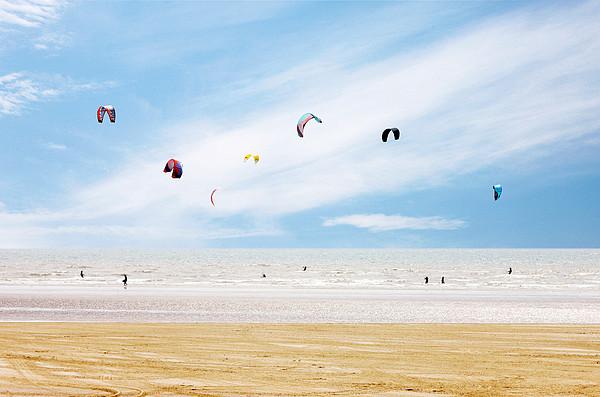 Kiteboarder Paradise Print by Richard Newstead