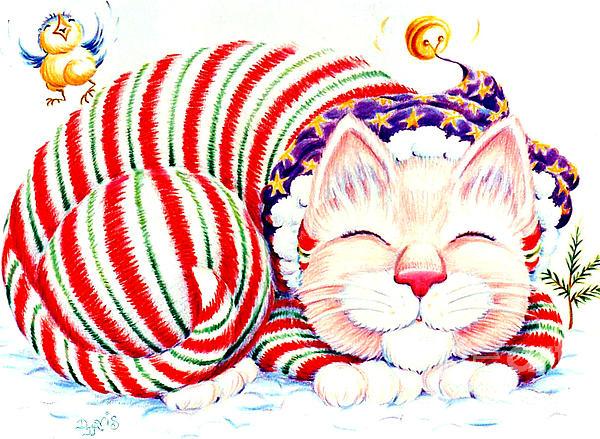 Kitty Klaus Print by Dee Davis