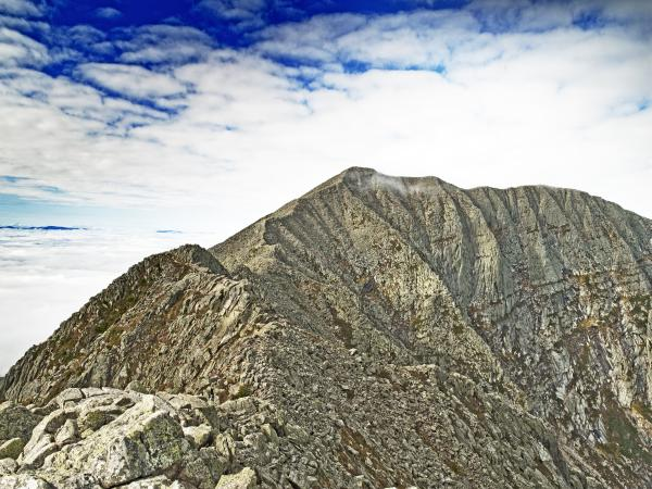 Knife Edge On Mount Katahdin Baxter State Park Maine Print by Brendan Reals