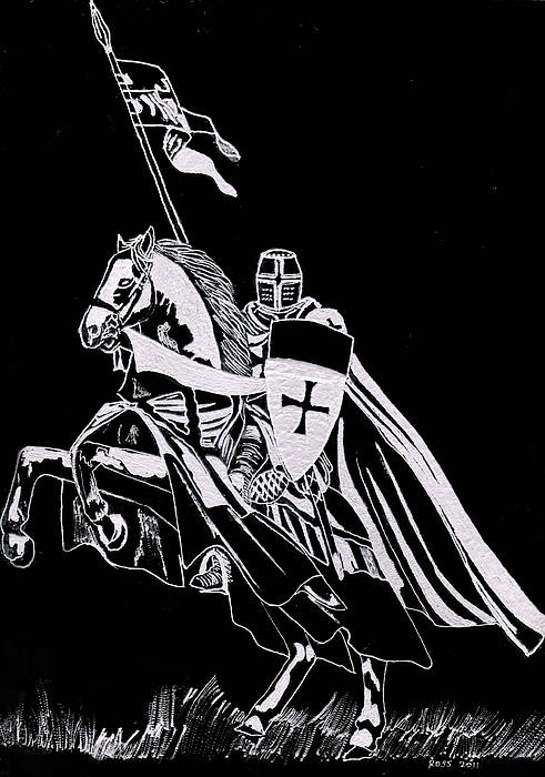 Knight Templar Print by Jim Ross