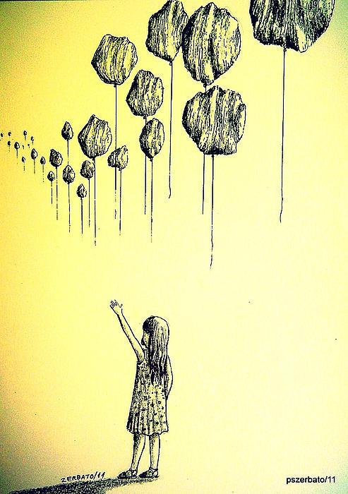 Knowledge Without Wisdom I Print by Paulo Zerbato