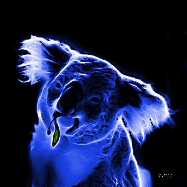 Koala Pop Art - Blue Print by James Ahn