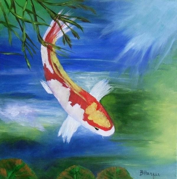 Amazing oil paintings oil paintings of koi fish for Amazing koi fish