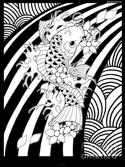 Koi Fish 1 Print by Enrique Simmons