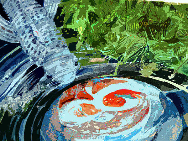 Koi Garden Print by Mindy Newman