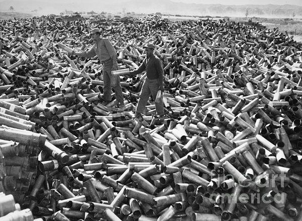 Korean War: Shell Casings Print by Granger